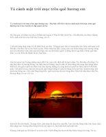 Tả cảnh mặt trời mọc trên quê hương em - văn mẫu