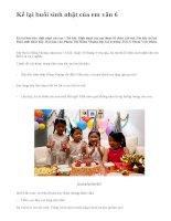 Kể lại buổi sinh nhật của em văn 6 - văn mẫu