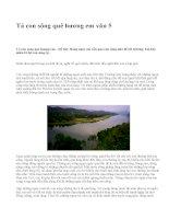 Tả con sông quê hương em văn 5 - văn mẫu
