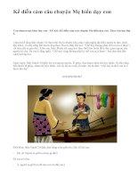 Kể diễn cảm câu chuyện Mẹ hiền dạy con - văn mẫu