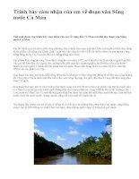 Trình bày cảm nhận của em về đoạn văn Sông nước Cà Mau - văn mẫu