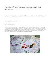 Em hãy viết một bức thư cho bạn ở một tỉnh miền Nam - văn mẫu