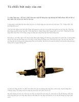 Tả chiếc bút máy của em - văn mẫu