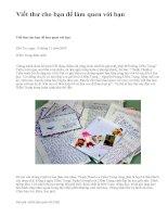 Viết thư cho bạn để làm quen với bạn - văn mẫu