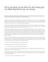 Kể lại nội dung bài thơ Đêm nay Bác không ngủ của Minh Huệ thành một câu chuyện - văn mẫu