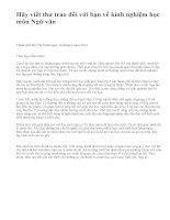 Hãy viết thư trao đổi với bạn về kinh nghiệm học môn Ngữ văn - văn mẫu