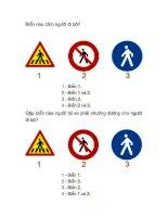 Bộ 100 câu hỏi ôn thi bằng lái xe ô tô mô tô (Bộ GTVT)