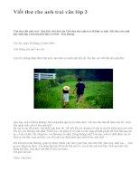 Viết thư cho anh trai văn lớp 3 - văn mẫu