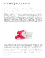 Kể câu chuyện về đồ chơi của em - văn mẫu