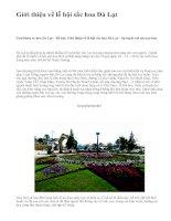 Giới thiệu về lễ hội sắc hoa Đà Lạt - văn mẫu