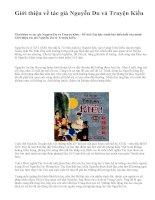 Giới thiệu về tác giả Nguyễn Du và Truyện Kiều - văn mẫu