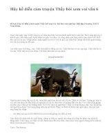 Hãy kể diễn cảm truyện Thầy bói xem voi văn 6 - văn mẫu