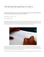 Viết thư gửi một người bạn ở xa lớp 4 - văn mẫu