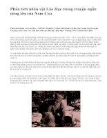 Phân tích nhân vật Lão Hạc trong truyện ngắn cùng tên của Nam Cao - văn mẫu
