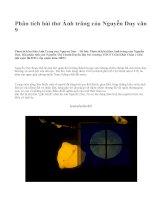 Phân tích bài thơ Ánh trăng của Nguyễn Duy văn 9 - văn mẫu