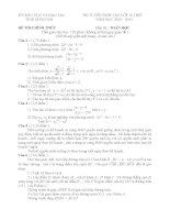 Tuyển tập đề thi chính thức vào lớp 10 (năm 2013 - 2014) môn Toán các tỉnh thành (có đáp án chi tiết)