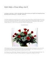 Giới thiệu về hoa hồng văn 8 - văn mẫu