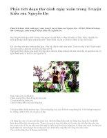 Phân tích đoạn thơ cảnh ngày xuân trong Truyện Kiều của Nguyễn Du - văn mẫu