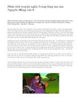 Phân tích truyện ngắn Trong lòng mẹ của Nguyên Hồng văn 8 - văn mẫu