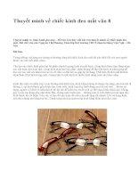 Thuyết minh về chiếc kính đeo mắt văn 8 - văn mẫu
