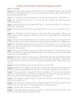 QUẢN lý NHÀ nước về KINH tế (câu hỏi và trả lời)
