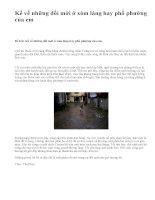 Kể về những đổi mới ở xóm làng hay phố phường của em - văn mẫu