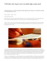 Viết thư cho bạn ở nơi xa nhân dịp xuân mới - văn mẫu
