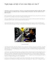 Nghị luận xã hội về trò chơi điện tử văn 9 - văn mẫu