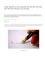 Thay mặt En-ri-cô trong bài văn Mẹ tôi viết một bức thư cho bố bày tỏ sự ân hận - văn mẫu