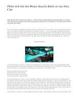 Phân tích bài thơ Đoàn thuyền đánh cá của Huy Cận - văn mẫu