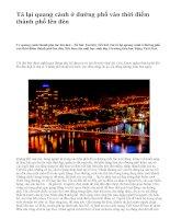 Tả lại quang cảnh ở đường phố vào thời điểm thành phố lên đèn - văn mẫu