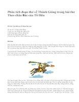 Phân tích đoạn thơ về Thánh Gióng trong bài thơ Theo chân Bác của Tố Hữu - văn mẫu