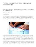 Viết thư cho người thân để hỏi thăm và chúc mừng năm mới - văn mẫu
