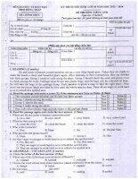 Bộ đề thi chính thức 4 môn tuyển sinh vào lớp 10 năm 2013  2014 có đáp án