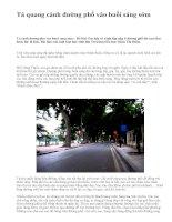 Tả quang cảnh đường phố vào buổi sáng sớm - văn mẫu