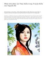 Phân tích nhân vật Thuý Kiều trong Truyện Kiều của Nguyễn Du - văn mẫu