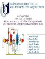 Tổng quan về trữ lượng và ứng dụng của khí quá trình thu hồi và chế biến h2s bằng chu trình claus