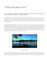 Tả dòng sông quê em văn 7 - văn mẫu