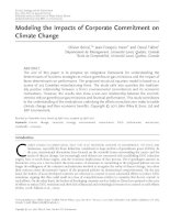 Modeling the Impacts of Corporate Commitment on Climate ChangeBoiral 2012