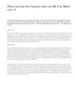 Phân tích bài thơ Nguyên tiêu của Hồ Chí Minh văn 12 - văn mẫu