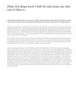 Phân tích đoạn trích Chiếc lá cuối cùng của nhà văn O'Hen-ri - văn mẫu