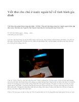 Viết thư cho chú ở nước ngoài kể về tình hình gia đình - văn mẫu