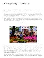 Giới thiệu về chợ hoa tết Sài Gòn - văn mẫu