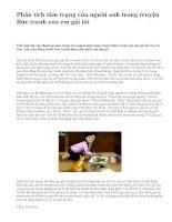 Phân tích tâm trạng của người anh trong truyện Bức tranh của em gái tôi - văn mẫu