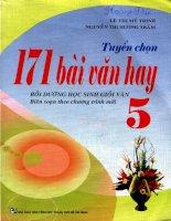 Tuyển chon 171 bài văn hay bồi dưỡng học sinh giỏi văn lớp 5