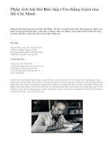 Phân tích bài thơ Báo tiệp (Tin thắng trận) của Hồ Chí Minh - văn mẫu
