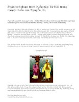 Phân tích đoạn trích Kiều gặp Từ Hải trong truyện Kiều của Nguyễn Du - văn mẫu