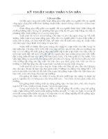 Tài liệu hướng dẫn soạn thảo văn bản
