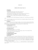 GIÁO ÁN BÀI 34 SINH TRƯỞNG Ở THỰC VẬT SINH HỌC 11 CƠ BẢN