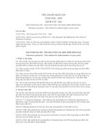 TCVN 3753 : 2007 SẢN PHẨM DẦU MỎ  PHƯƠNG PHÁP XÁC ĐỊNH ĐIỂM ĐÔNG ĐẶC
